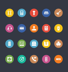 Glyphs colored icons 10 vector