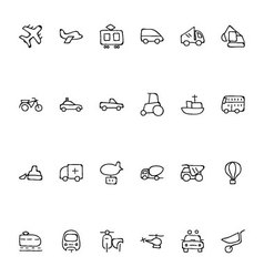 Transport hand drawn doodle icons 2 vector