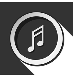 Icon - musical note with shadow vector