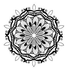 Black and white mandale design vector