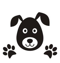 Black dog head vector image