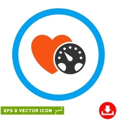 Blood pressure meter eps rounded icon vector