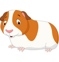 Cartoon funny hamster isolated on white background vector
