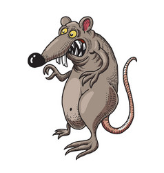 Cartoon image of evil rat vector