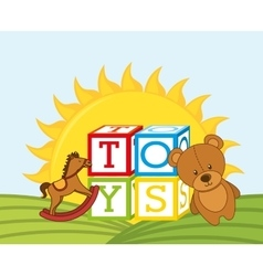 Children toys vector
