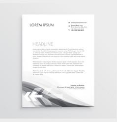 Creative letterhead abstract template design vector