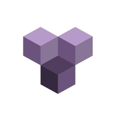 Cube isometric logo concept 3d vector image