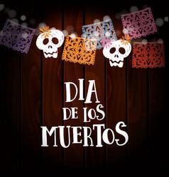 Dia de los muertos day of the dead or halloween vector