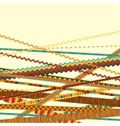 Ethnic abstract geometric background from vector image vector image