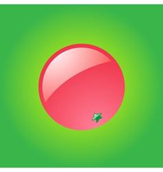 Glossy grapefruit vector