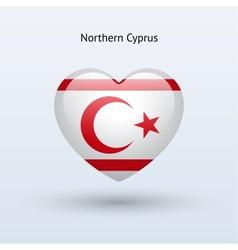 Love northern cyprus symbol heart flag icon vector