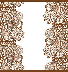 Mehndi vertical backrtound vector