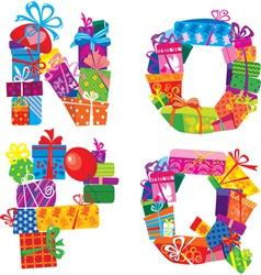 NOPQ - english alphabet vector image