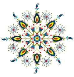Polish embroidery design rosette vector