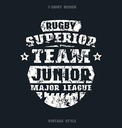 Rugby junior team emblem vector image vector image