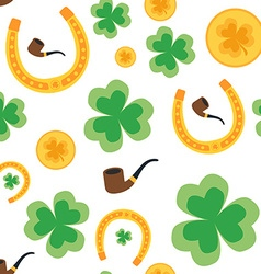 Seamless background for St Patricks Day Isolated vector image vector image