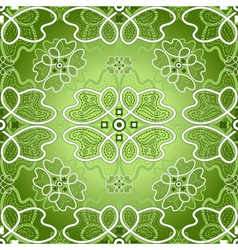 Seamless green background vector image vector image