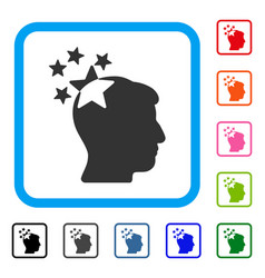stars hit head framed icon vector image vector image