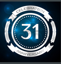 thirty one years anniversary celebration with vector image