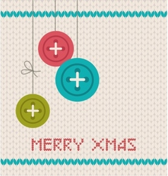 Vintage christmas greeting card vector