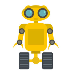 Yellow robot icon isolated vector