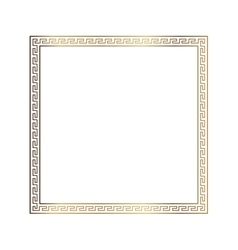 Greek style ornamental decorative frame pattern vector