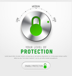 Design a white banner to protect information with vector