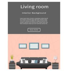 Website banner for modern living room interior vector