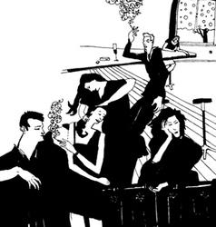 clubbing people vector image