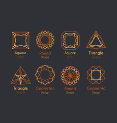 Abstract logo or emblems set vector