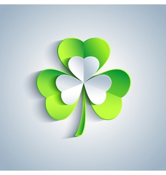 Patricks day card with leaf clover greeting card vector image