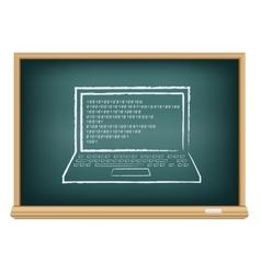 board laptop vector image