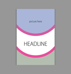 Design headline cover book vector