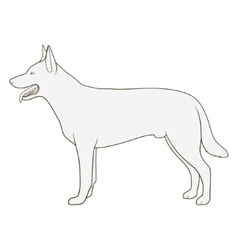 Dog side view scheme silhouette vector