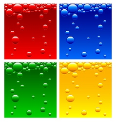 Air bubbles in the liquid of different colors vector