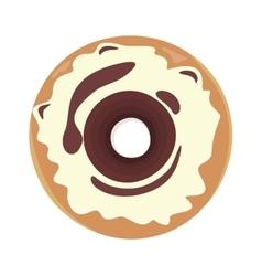 Sweet donuts set design flat food vector