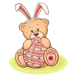 easter teddy vector image