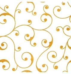 Abstract gold seamless vintage pattern vector