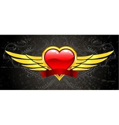 gold vintage emblem vector image