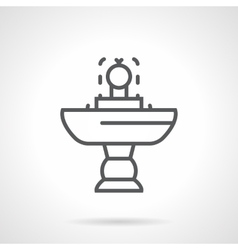 Small fountain black line icon vector