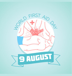 9 august world first aid day vector