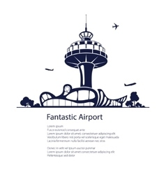 Airport travel and tourism concept vector