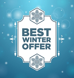 Best winter offer in beautiful frame vector