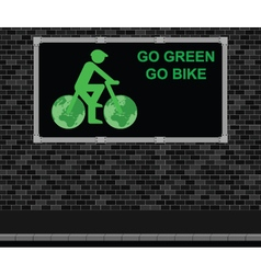 Bicycle advertising board vector