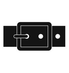 Black buckle belt icon simple style vector