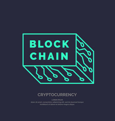 Blockchain technology and cryptocurrency vector