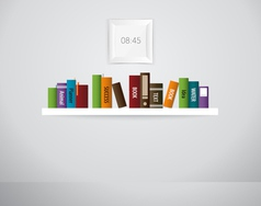 Book shelf vector image