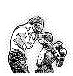 Box Fighters vector image vector image