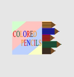 Box of colored pencils vector