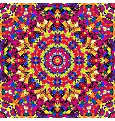 Bright kaleidoscope pattern vector